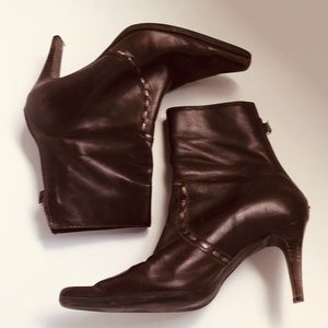 """Unisa Genuine Brown Leather 3"""" Ankle Boot"""